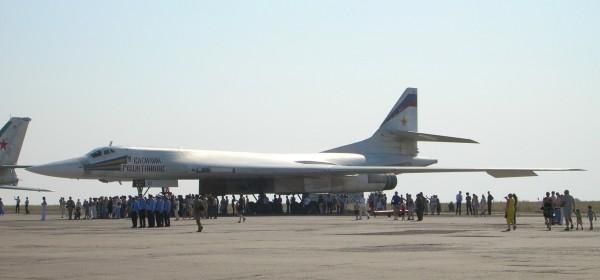 Сверхзвуковой стратегический бомбардировщик-ракетоносец Ту-160 «Василий Решетников».