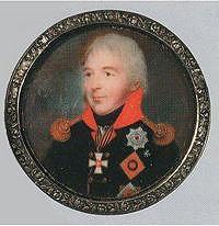 Миниатюра с изображением генерала от инфантерии графа С.Ф. Голицына из коллекции великого князя Николая Михайловича.