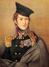 Портрет полковника гвардейской артиллерии Д.А. Столыпина. Неизвестный художник. После 1814.