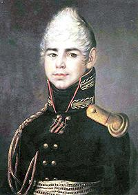 Портрет поручика лейб-гвардии Семеновского полка П.Г. Бибикова. Неизвестный художник. 1804-1805.