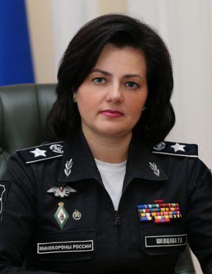 На снимке: Заместитель министра обороны Татьяна Шевцова.