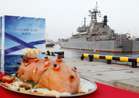 Корабли и суда Балтийского флота в течение года на регулярной основе выполняют задачи в составе постоянного оперативного соединения кораблей ВМФ России в Средиземном море