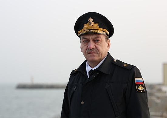 Начальник Управления боевой подготовки Военно-Морского Флота (ВМФ) России контр-адмирал Виктор Кочемазов