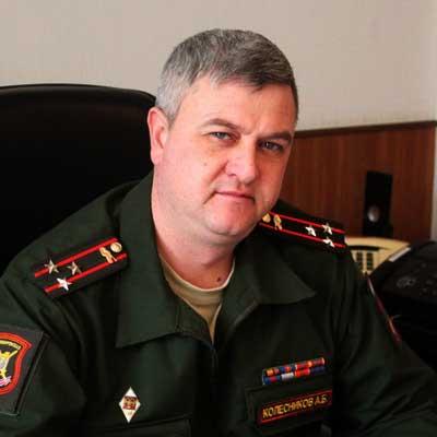 Командир гвардейской танковой Кантемировской дивизии полковник Андрей Колесников