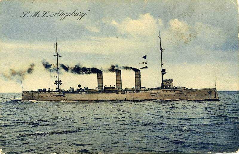 Немецкий крейсер «Аугсбург»