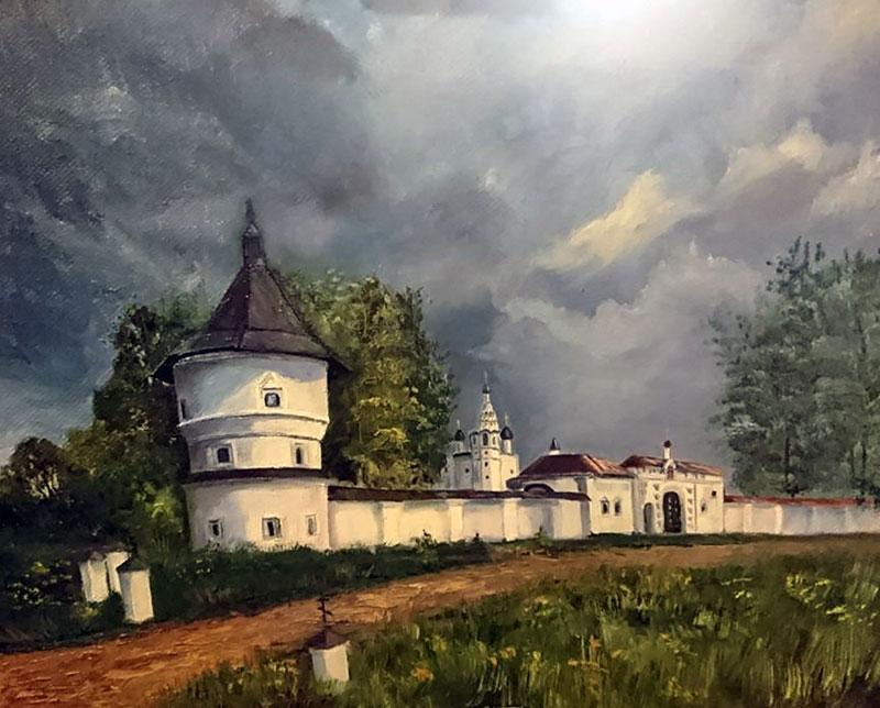 Вход в Иерусалим (худ. Юлия Литвинова) Масло, холст -лен, 40х50