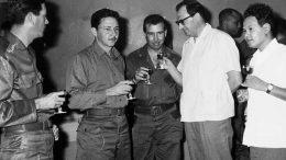На фото: И.А. Фадейкин (четвёртый слева) на встрече с кубинскими товарищами.