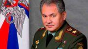 Министр обороны Российской Федерации генерал армии С.Шойгу.