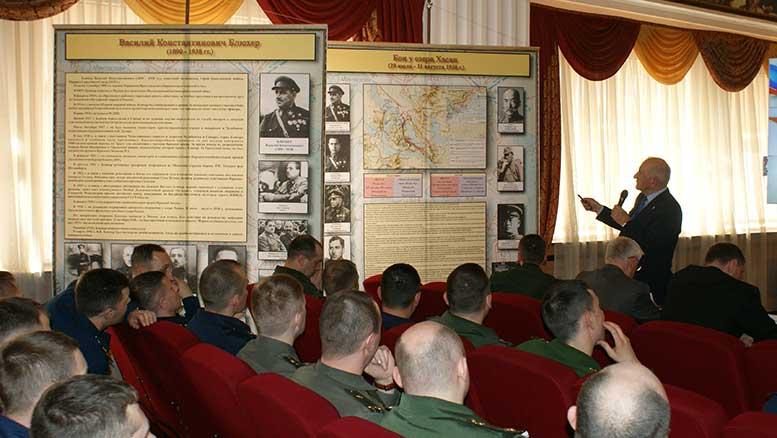 В.С. Земцов выступает перед слушателями Общевойсковой академии Вооружённых Сил Российской Федерации
