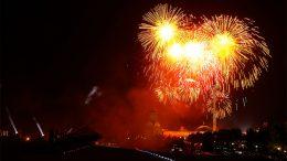 Салют в ознаменование 73-летия Великой Победы на Поклонной горе (г. Москва)