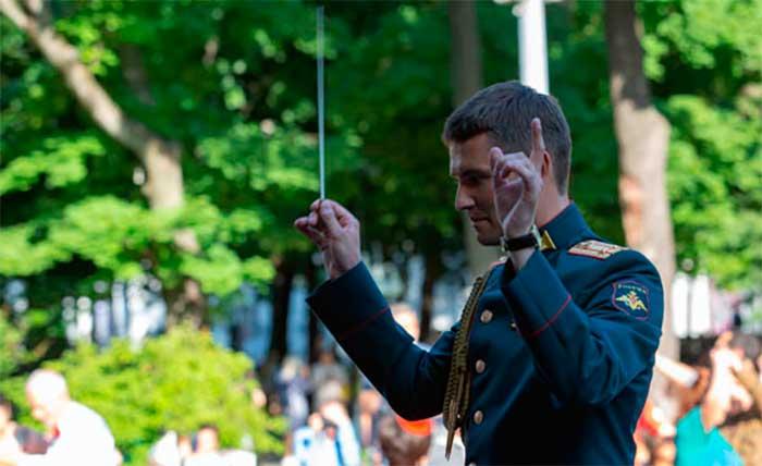 В Саду «Эрмитаж» выступил Центральный военный оркестр