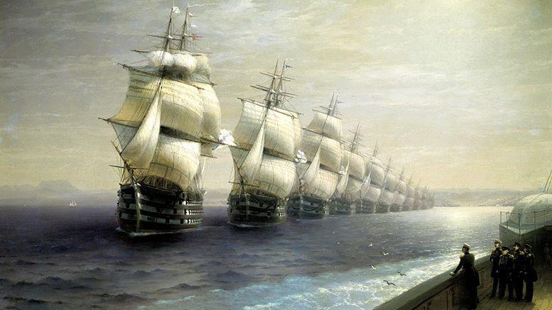 Смотр Черноморского флота в 1849 году (Айвазовский, 1886)