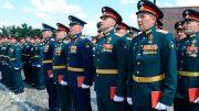 На Поклонной горе состоялся выпуск слушателей Общевойсковой академии ВС РФ
