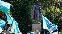 Торжественная церемония открытия памятника Герою Советского Союза генералу армии В.Ф. Маргелову (г. Москва)