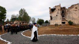 На российской военной базе в Южной Осетии почтили память миротворцев, погибших в Цхинвале в августе 2008 года