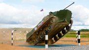 Гонка преследования на боевых машинах в рамках конкурса «Десантный взвод»