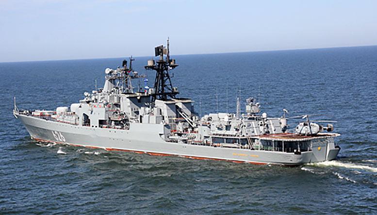 Отряд кораблей и судов Северного флота занял места якорных стоянок в бухте Тикси моря Лаптевых