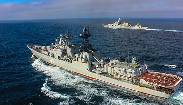 Корабли Северного флота зашли в пролив Ла-Манш