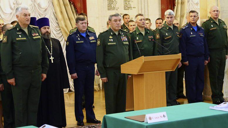Генерал армии Валерий Герасимов принял участие в торжествах, посвященных началу нового учебного года в ВАГШ ВС РФ
