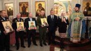 В Москве состоялась церемония передачи в дар храму Благовещения Пресвятой Богородицы икон с частицами мощей святых праведных воинов
