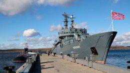 В Североморск прибыл учебный корабль «Перекоп», впервые в своей истории совершивший переход по Северному морскому пути