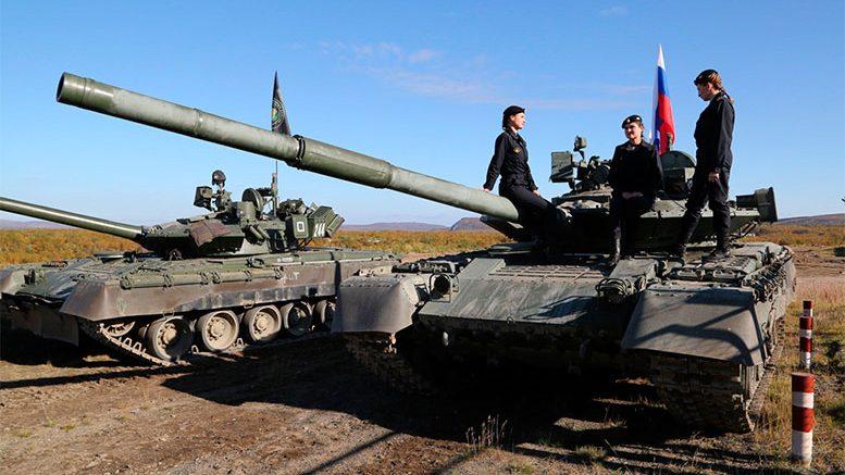 День танкиста в отдельной мотострелковой бригаде Северного флота (п.Корзуново, Мурманская область)