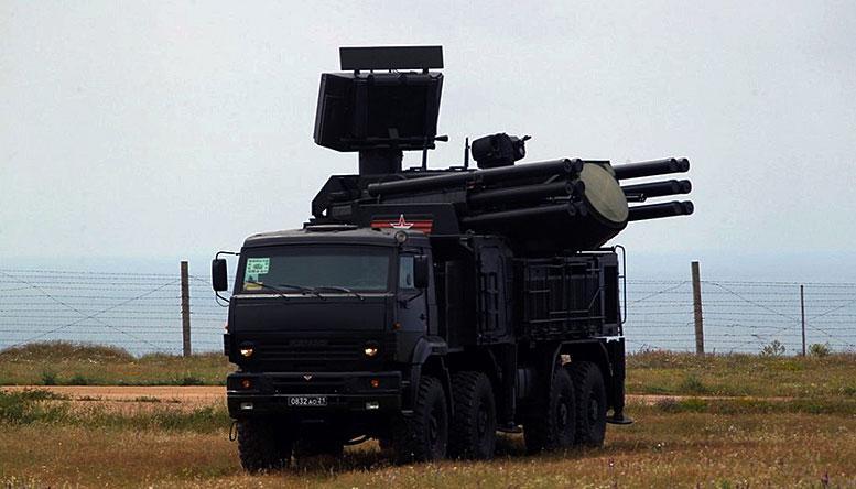 В Крыму расчёты ЗРПК «Панцирь-С» в рамках учения отработали уничтожение крылатых ракет