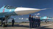 Первые в ЦВО бомбардировщики Су-34 прибыли на военный аэродром в Челябинской области