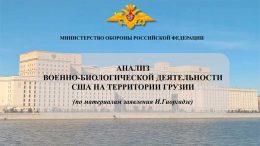 В Минобороны России прошел брифинг, посвященный анализу военно-биологической деятельности США на территории Грузии