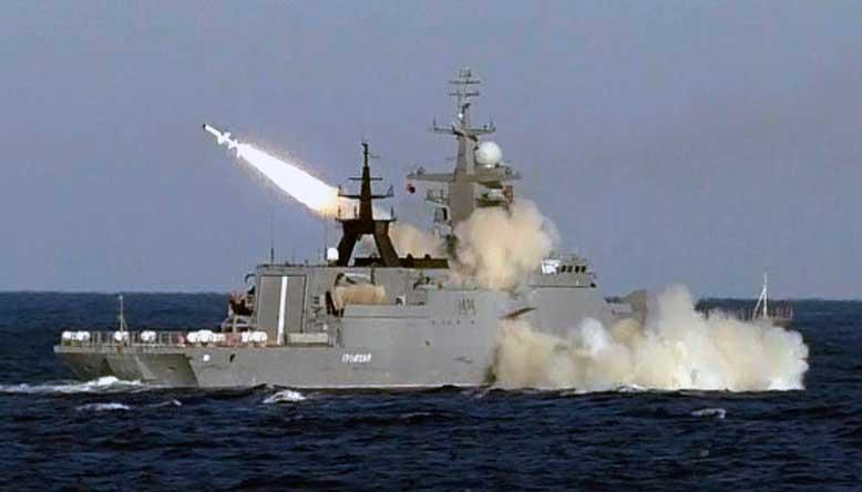 Новейший корвет «Громкий» в ходе госиспытаний впервые выполнил стрельбу крылатой ракетой «Уран» по морской цели