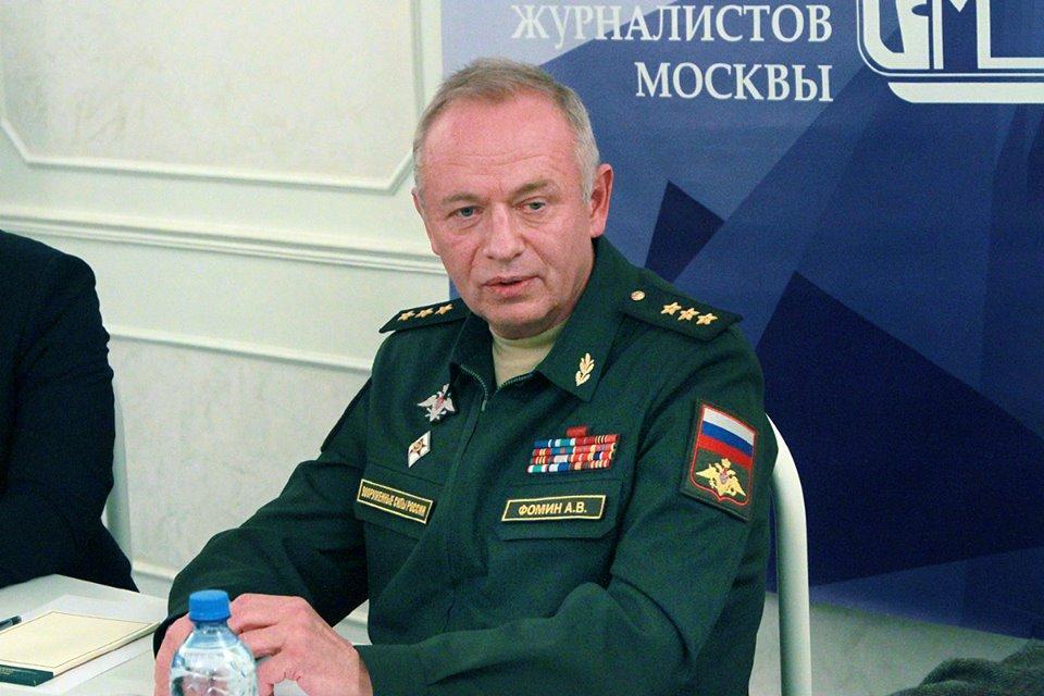 Заместитель Министра обороны РФ генерал-полковник Александр Фомин встретился с представителями СМИ