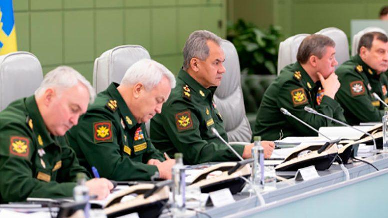 Министр обороны России провел селекторное совещание с руководством Вооруженных Сил