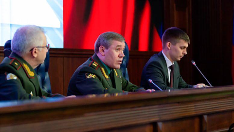 Начальник Генерального штаба Вооруженных Сил Российской Федерации провел брифинг для иностранных военных атташе