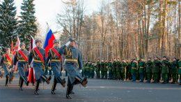 Инженерно-маскировочному полку центрального подчинения вручено Боевое Знамя