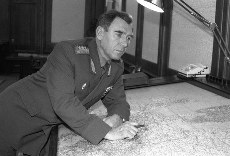 М.А. Моисеев в Генеральном штабе ВС СССР, январь 1989 г. ФОТО ТАСС.