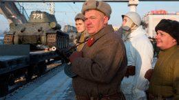 Эшелон с легендарными танками Т-34 сделал остановку в Чите