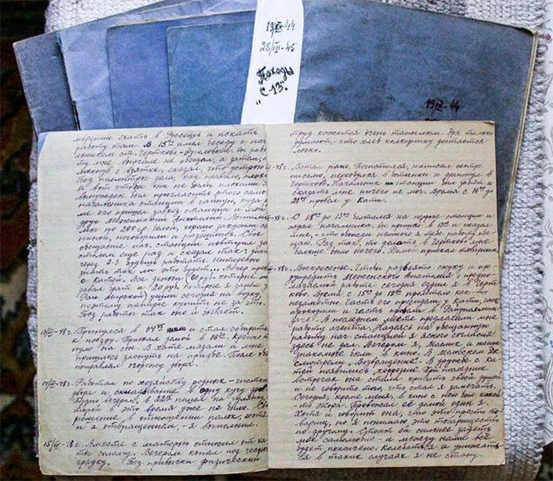 Страницы дневника радиста С-13.