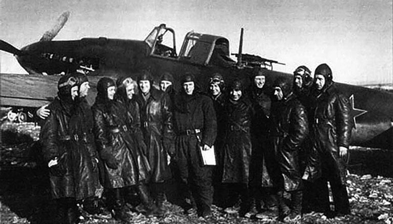 Лётчики 18-го штурмового авиаполка.