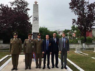 На российском воинском захоронении в румынской Слатине прошли мероприятия, посвященные Великой Победе