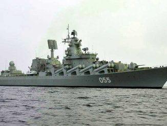 Ракетный крейсер Северного флота «Маршал Устинов»