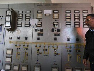 Станция по преобразованию и передаче электроэнергии первой в Сирии солнечной электростанции, находящейся в 20 километрах от Дамаска. Фото РИА новости.