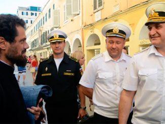 Экипаж фрегата Черноморского флота «Адмирал Макаров» принял участие в мероприятиях «Русской недели» на греческом острове Корфу