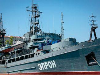 На Черноморском флоте спасательному судну «Эпрон» исполнилось 60 лет