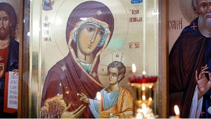 Иверская икона Пресвятой Богородицы в Главном храме Вооруженных Сил России