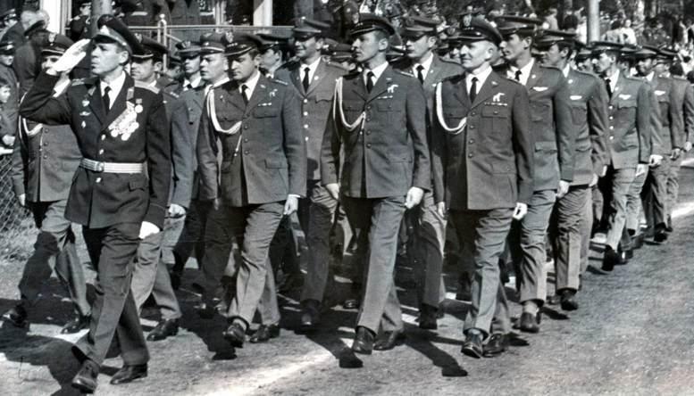В строю иностранные слушатели ВВА им. Ю.А. Гагарина (1970-е гг.).