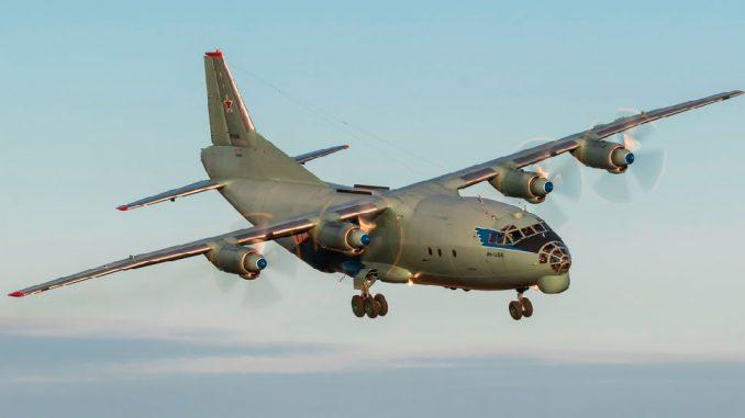 Экипажи самолетов Ан-12 и Ан-26 Ленинградского объединения ВВС и ПВО отработали противозенитный манёвр «градиент»