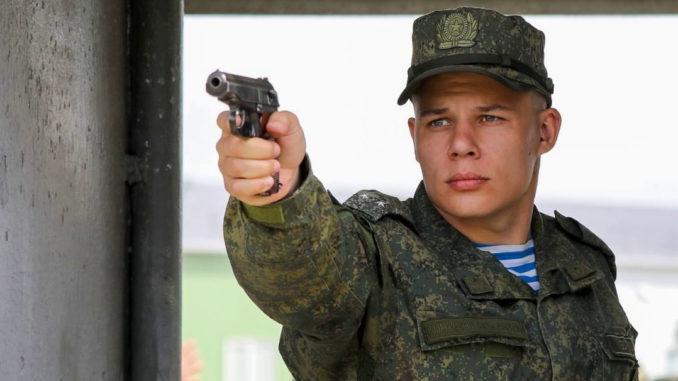На полигоне Раевский завершился чемпионат по стрельбе из штатного оружия