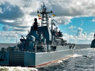 Репетиция Главного военно-морского парада в честь Дня Военно-морского флота (Санкт-Петербург)