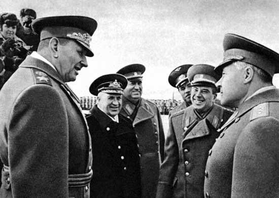 Министр обороны СССР Маршал Советского Союза А.А. Гречко на предпарадной подготовке. 1972 г.